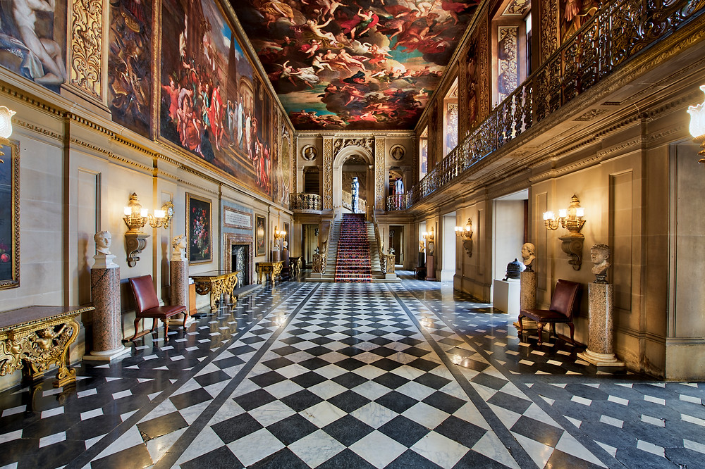 chatsworth painted hall derbyshire britain england