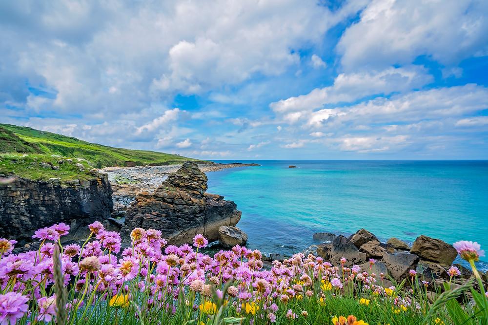 Cornwall, coast path, hiking
