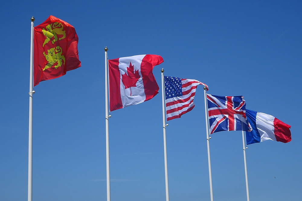 Flags over Utah Beach