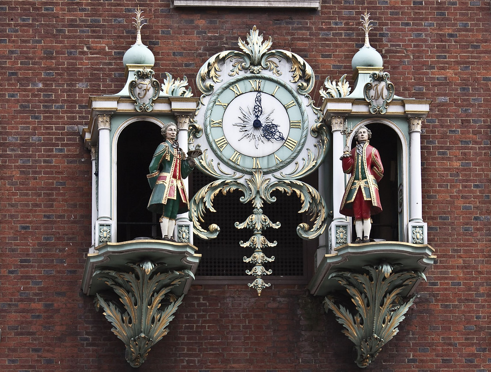 Fortnum Mason clock Big Ben London Britain UK shopping