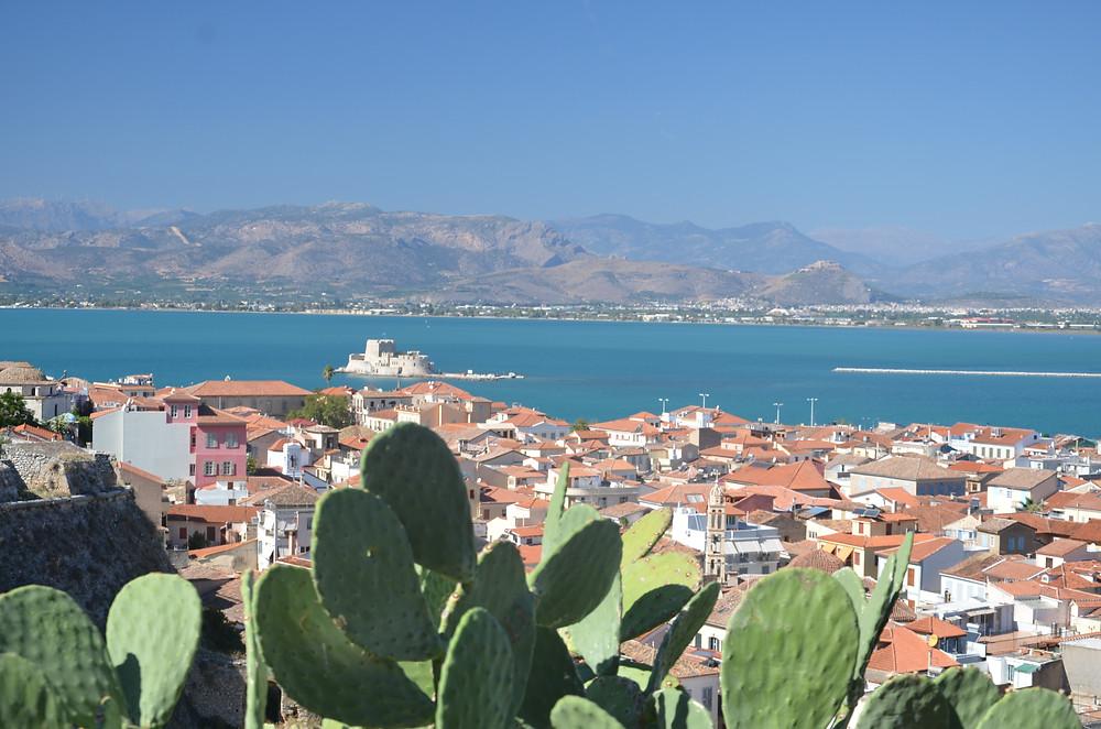 View across Nafplio to the Bourtzi