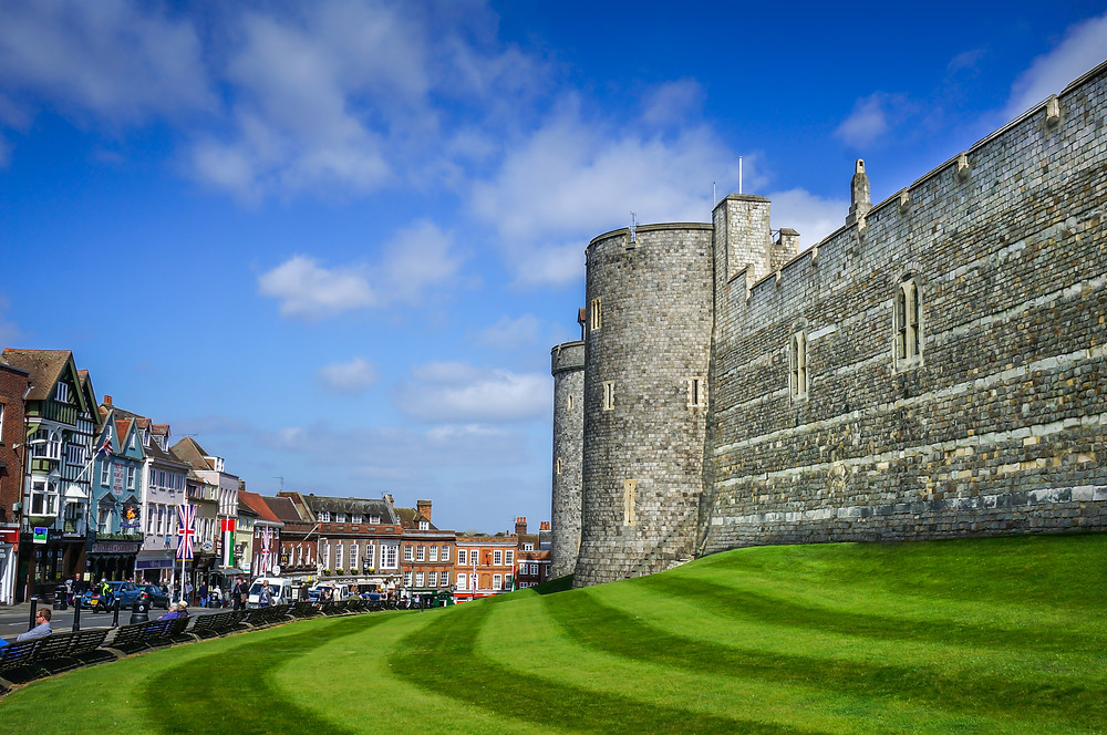 Windsor Castle town england uk britain