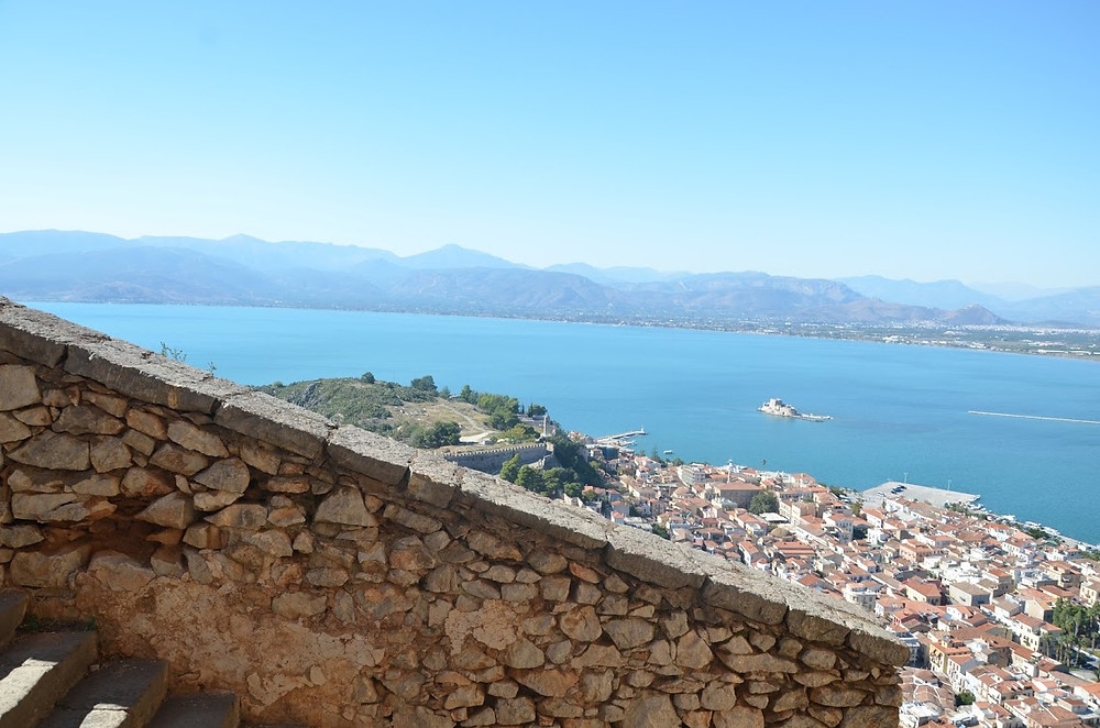View from the Palamidi Fortress' 1,000 steps
