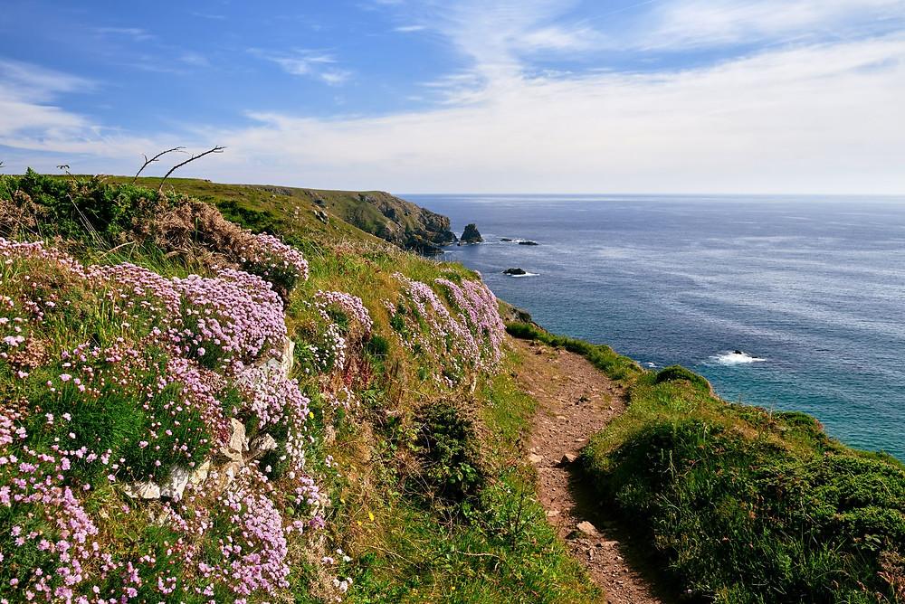 england south west coast path lizard hike