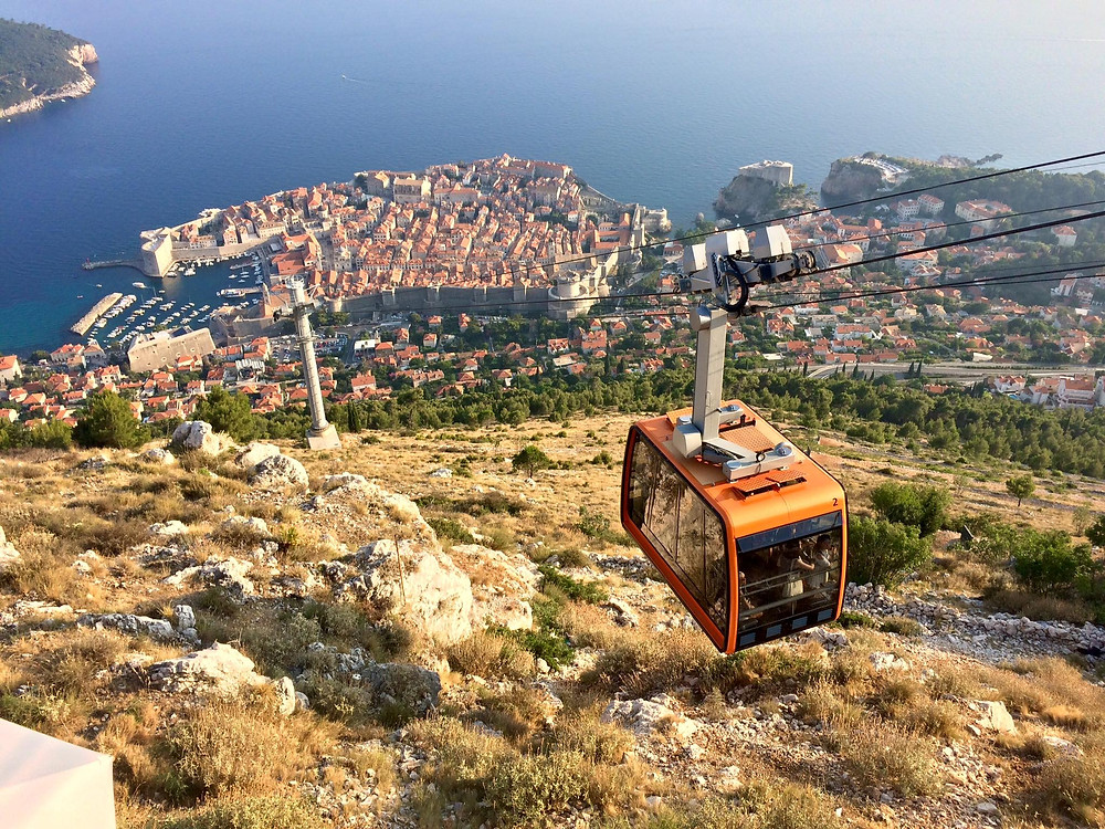 Cable car to the top of Mount Srd, Dubrovnik, Croatia