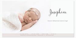Josephine 1-seitig - DIN lang quer