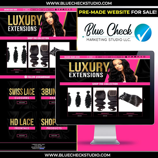 Pre-Made (WIX) Hair Website 2