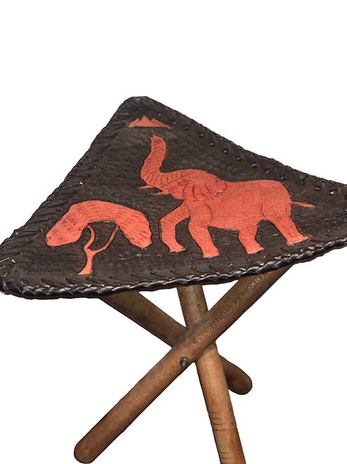 Leather African Elephant Stool