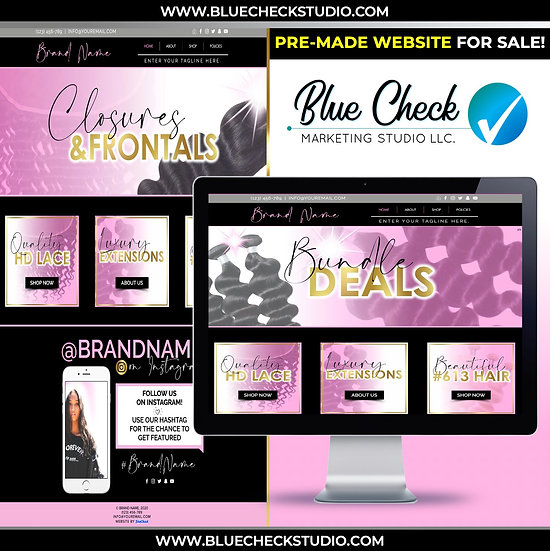 [SOLD!] Pre-Made (WIX) Hair Website 1