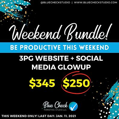 Weekend Combo - 3pg Website + Social Media GlowUp