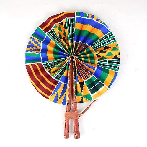 Kenyan Kente Folding Fan