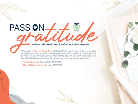 """CUỘC THI """"PASS ON GRATITUDE"""" - CHÀO MỪNG NGÀY NHÀ GIÁO VIỆT NAM 20/11/2020"""