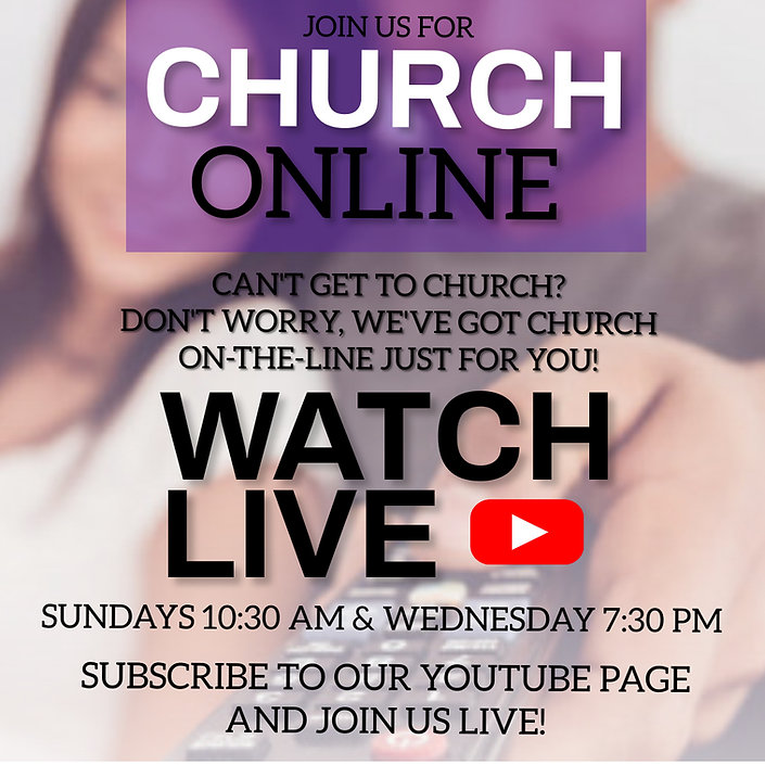 Jon us for church on line