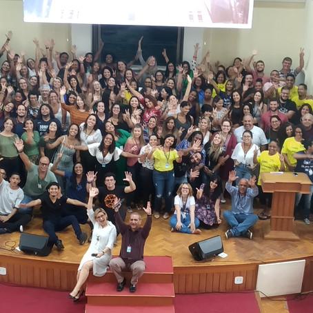 Culto de abertura do ano com os professores e colaboradores do Colégio Batista Shepard