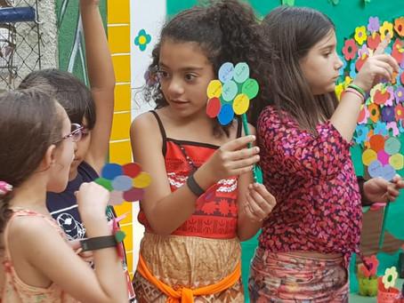Festa da Primavera com alunos do Fundamental 1 no SEO
