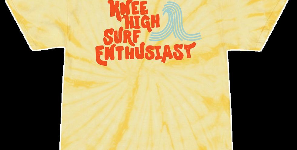 Knee High Surf Enthusiast Tee - Sunburst Yellow Tie Dye