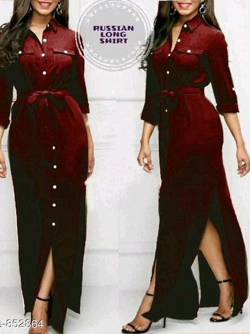 Ladies Rayon Long Dresses