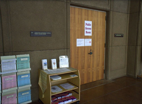 State Capitol's Public Access room reopens to modified procedures in light of COVID-19 concerns