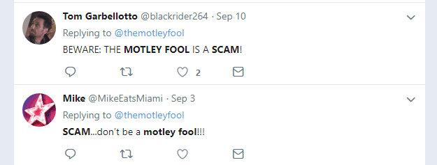 Motley Fool scam Tweets