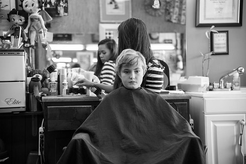 Getting a haircut is serious business