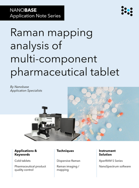 New app note : Raman mapping analysis of multi-component pharmaceutical tablet