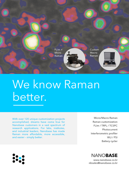 Our new full-page ad featured in Spectroscopy August 2020 issue
