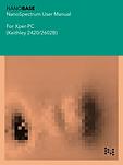 NANOBASE Xper-PC NanoSpectrum User Manual