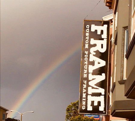 FRAME—Signage with rainbow