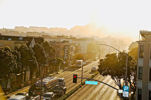 FRAME—Sunset on Lombard