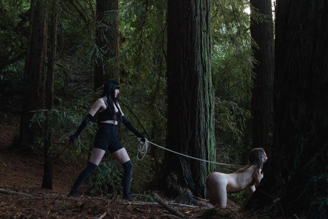Goddess-Faustine-Cox-San-Francisco-Dominatrix-boots-CFNM-rope-bondage-whip-forest-kink