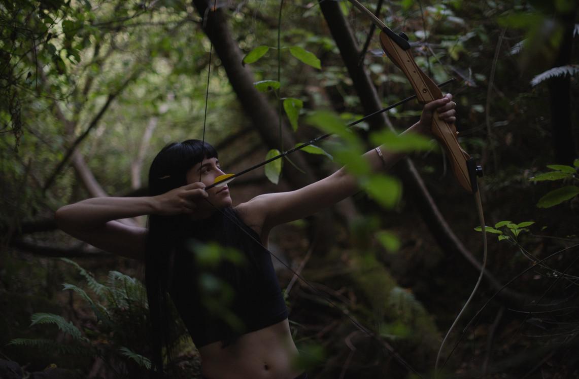 Goddess-Faustine-Cox-San-Francisco-Dominatrix-archery-huntress-bdsm-kink-artemis