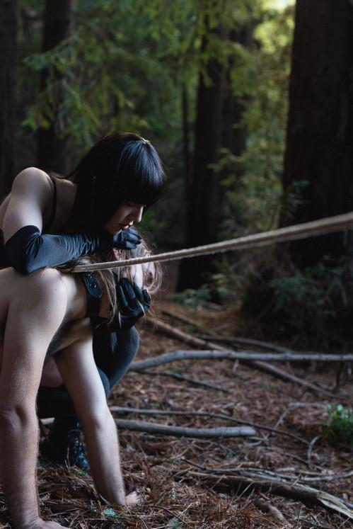 Goddess-Faustine-Cox-San-Francisco-Dominatrix-rope-bondage-opera-gloves-forest-kink