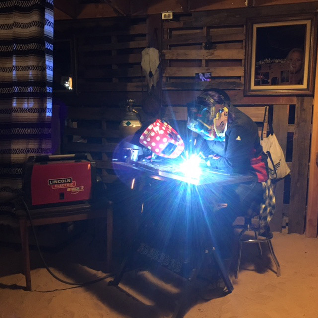 Jessi teaching babes welding techniques