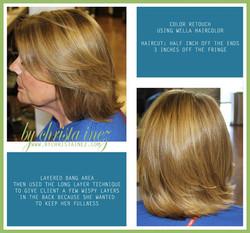 haircolor and haircut