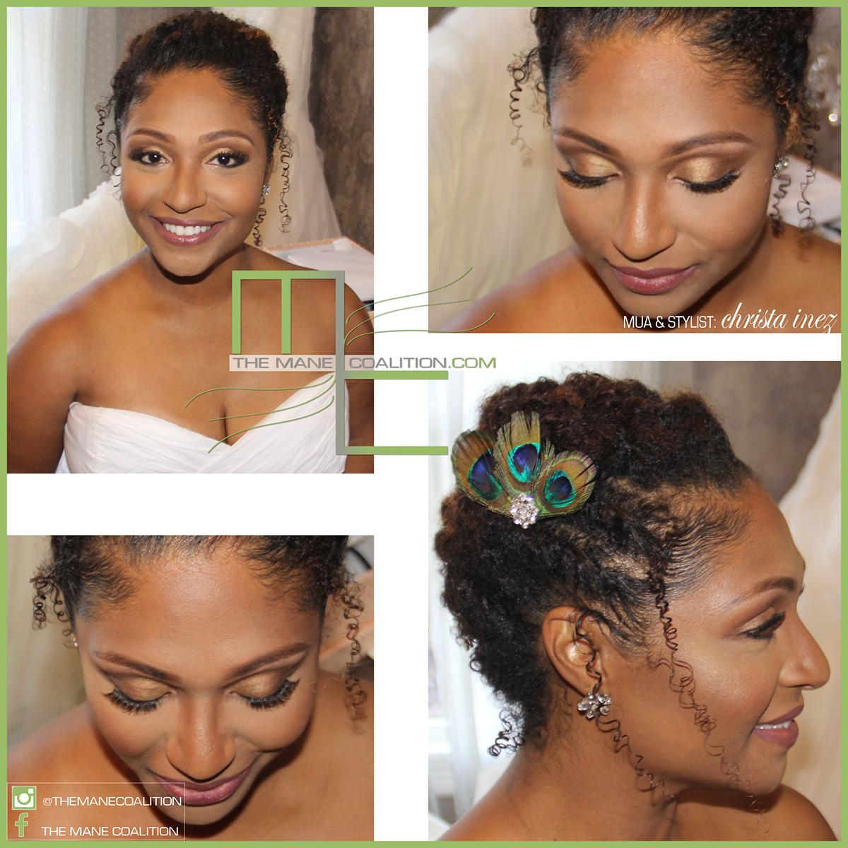 natural wedding updo
