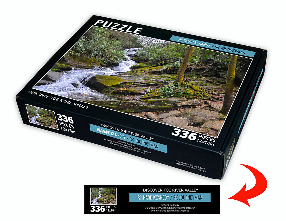 This blogging thing is so tough for me. First I have to stumble around figuring out how to even get access to be able to do it. Then I have to try to type something with my one finger that is some sort of idea that anybody would be interested in. So I'll pause for a commercial. Puzzles are available that honor the Toe River Valley are available at Albert's Lodge, Something Special, Burnsville,NC and OOAK Gallery, Micaville,NC. We'll get to Paris, Cleveland,India & beyond in due time.