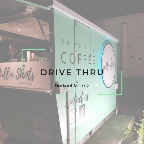 Drive thru coffee shop