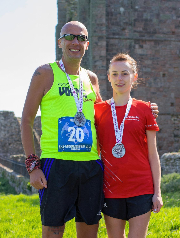 Holly & Mark Holy Island Marathon