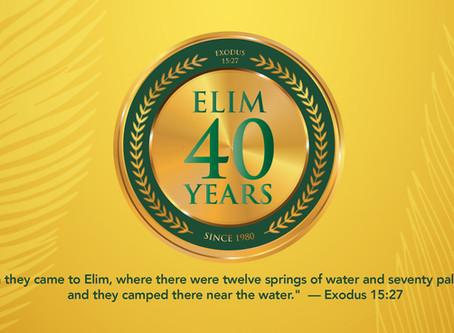 Elim Celebrates its 40th Year!