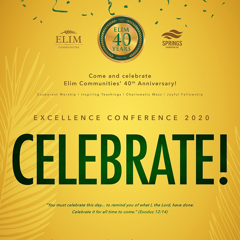 Excellence Conference 2020: CELEBRATE!