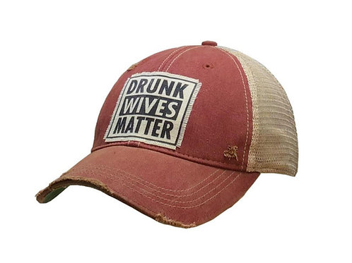 "Details Vintage Distressed Trucker Cap ""Drunk Wives Matter"""