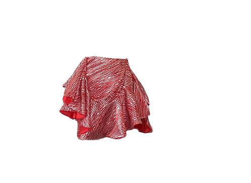 FAY- RED PRINT SKIRT
