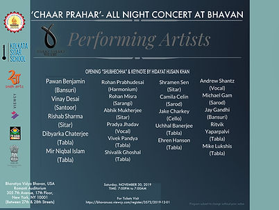 CHAAR PRAHAR-ALL NIGHT CONCERT