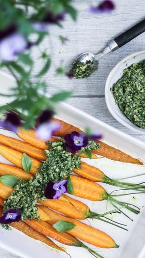 Porkkanannaatti pesto