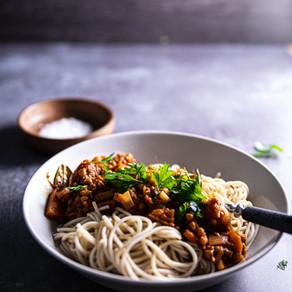 Erittäin maukas linssibolognese