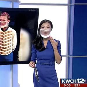 masque fenetre journaliste television