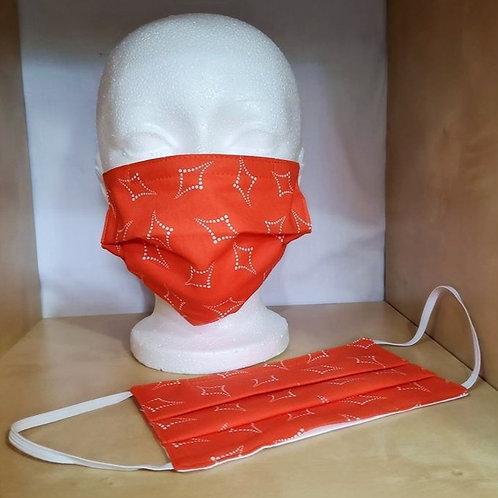 Masque ORANGE MOTIFS CARREAUX - ADULTE standard