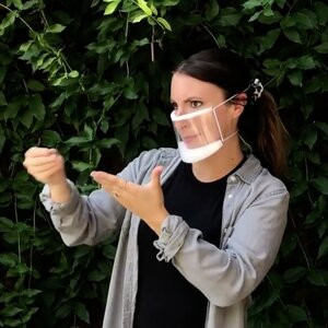 masque fenetre language de signes