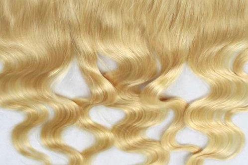 13x4 Brazilian Platinum Blonde Body Wave Frontal