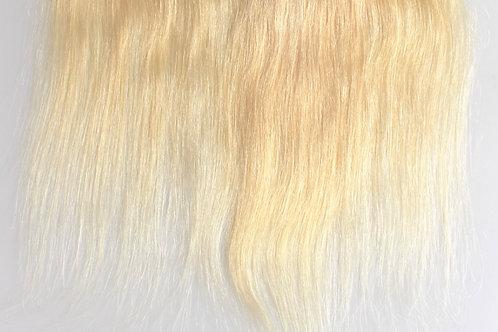 13x4 Brazilian Platinum Blonde Straight Frontal